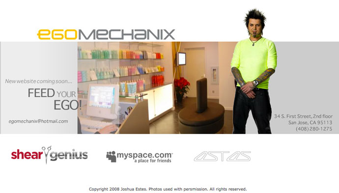 Web Design Client - Ego Mechanix Salon